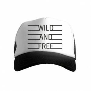 Czapka trucker dziecięca Wild and free
