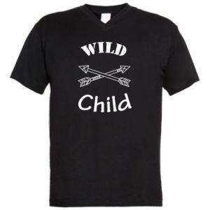 Męska koszulka V-neck Wild child