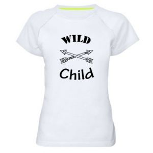 Women's sports t-shirt Wild child