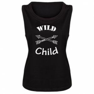 Damska koszulka bez rękawów Wild child