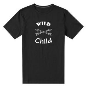 Męska premium koszulka Wild child