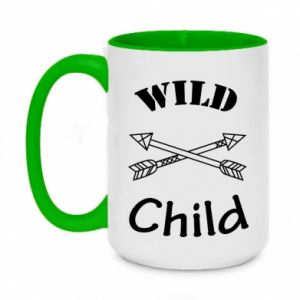 Two-toned mug 450ml Wild child