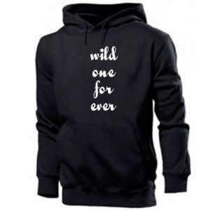 Men's hoodie Wild one for ever