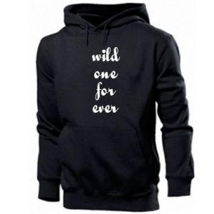 Męska bluza z kapturem Wild one for ever