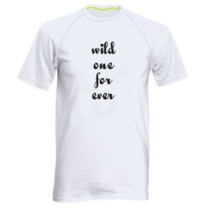 Men's sports t-shirt Wild one for ever