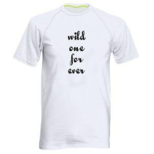 Męska koszulka sportowa Wild one for ever