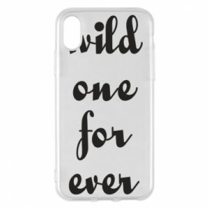 Etui na iPhone X/Xs Wild one for ever
