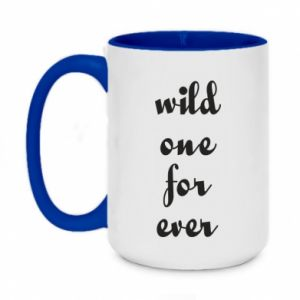 Two-toned mug 450ml Wild one for ever