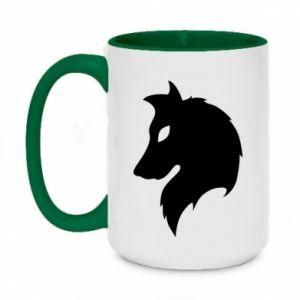 Two-toned mug 450ml Wolf Alpha