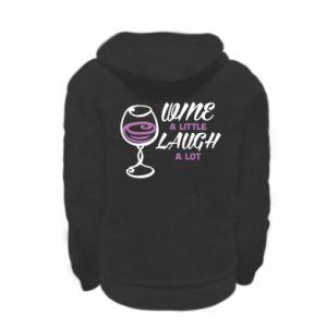Bluza na zamek dziecięca Wine a little laugh a lot