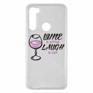 Etui na Xiaomi Redmi Note 8 Wine a little laugh a lot