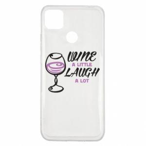 Etui na Xiaomi Redmi 9c Wine a little laugh a lot
