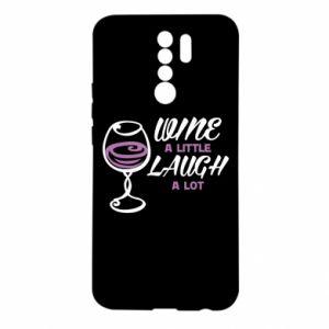 Etui na Xiaomi Redmi 9 Wine a little laugh a lot