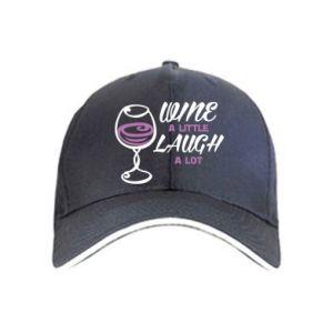 Czapka Wine a little laugh a lot