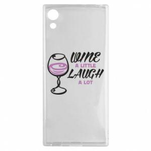 Etui na Sony Xperia XA1 Wine a little laugh a lot