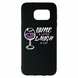 Etui na Samsung S7 EDGE Wine a little laugh a lot