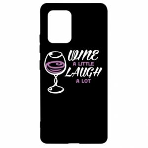 Etui na Samsung S10 Lite Wine a little laugh a lot
