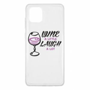 Etui na Samsung Note 10 Lite Wine a little laugh a lot