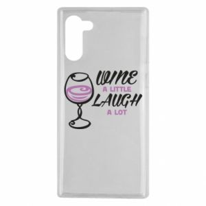 Etui na Samsung Note 10 Wine a little laugh a lot
