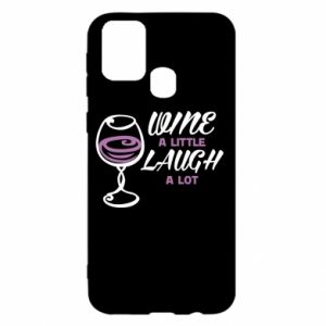 Etui na Samsung M31 Wine a little laugh a lot