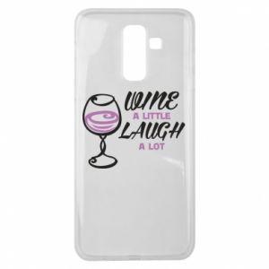 Etui na Samsung J8 2018 Wine a little laugh a lot