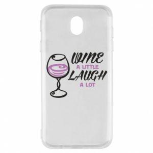 Etui na Samsung J7 2017 Wine a little laugh a lot