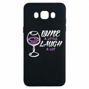 Etui na Samsung J7 2016 Wine a little laugh a lot