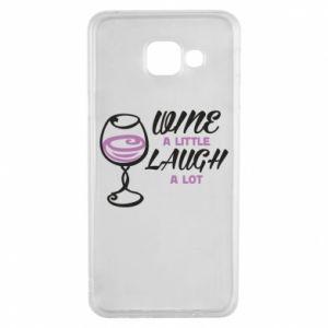 Etui na Samsung A3 2016 Wine a little laugh a lot