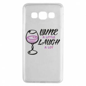 Etui na Samsung A3 2015 Wine a little laugh a lot