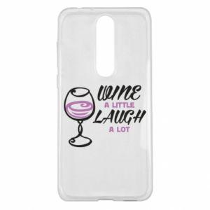 Etui na Nokia 5.1 Plus Wine a little laugh a lot