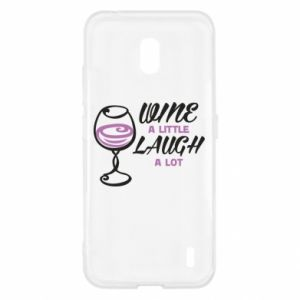 Etui na Nokia 2.2 Wine a little laugh a lot