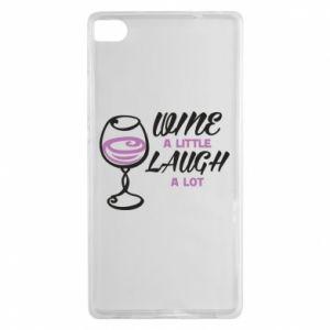 Etui na Huawei P8 Wine a little laugh a lot