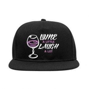 SnapBack Wine a little laugh a lot - PrintSalon