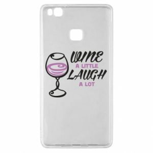 Etui na Huawei P9 Lite Wine a little laugh a lot
