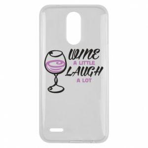 Etui na Lg K10 2017 Wine a little laugh a lot