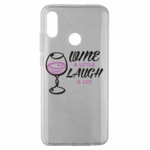 Etui na Huawei Honor 10 Lite Wine a little laugh a lot