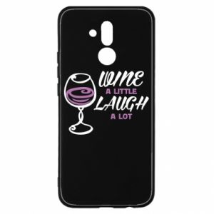 Etui na Huawei Mate 20 Lite Wine a little laugh a lot