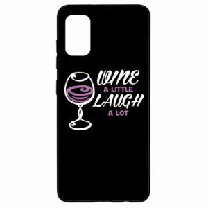 Etui na Samsung A41 Wine a little laugh a lot