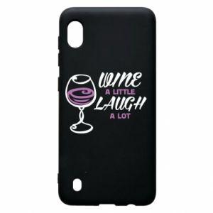 Etui na Samsung A10 Wine a little laugh a lot