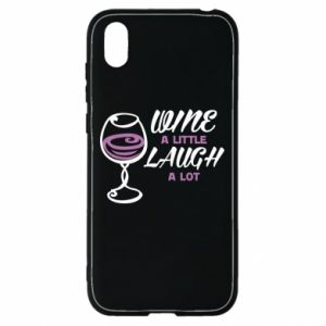 Etui na Huawei Y5 2019 Wine a little laugh a lot