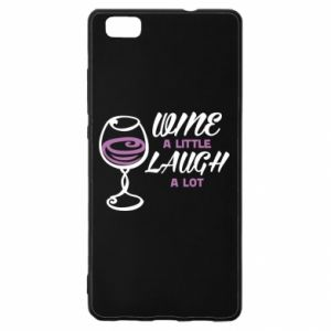 Etui na Huawei P 8 Lite Wine a little laugh a lot