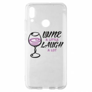 Etui na Huawei P Smart 2019 Wine a little laugh a lot