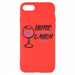 Etui na iPhone SE 2020 Wine a little laugh a lot