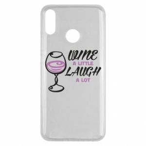 Etui na Huawei Y9 2019 Wine a little laugh a lot