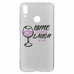 Etui na Huawei Y7 2019 Wine a little laugh a lot