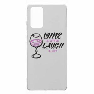 Etui na Samsung Note 20 Wine a little laugh a lot