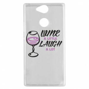 Etui na Sony Xperia XA2 Wine a little laugh a lot