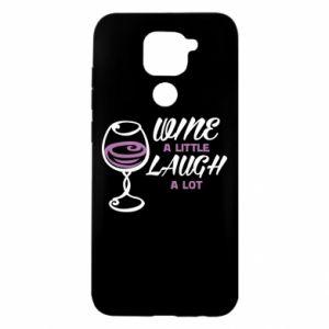 Etui na Xiaomi Redmi Note 9/Redmi 10X Wine a little laugh a lot