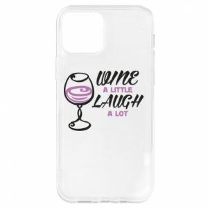 Etui na iPhone 12/12 Pro Wine a little laugh a lot