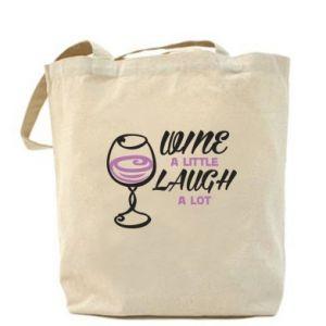 Bag Wine a little laugh a lot - PrintSalon